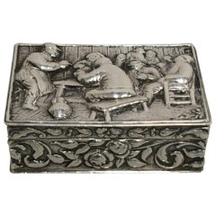 19th Century English Sterling Silver Snuff Box
