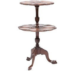 19th Century English Two-Tier Dessert Table