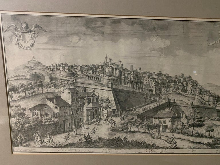 19th Century 19th C Engraving of the City of Bergamo, Italy For Sale