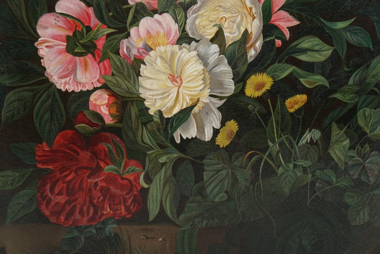 Danish 19th Century Flower Painting For Sale