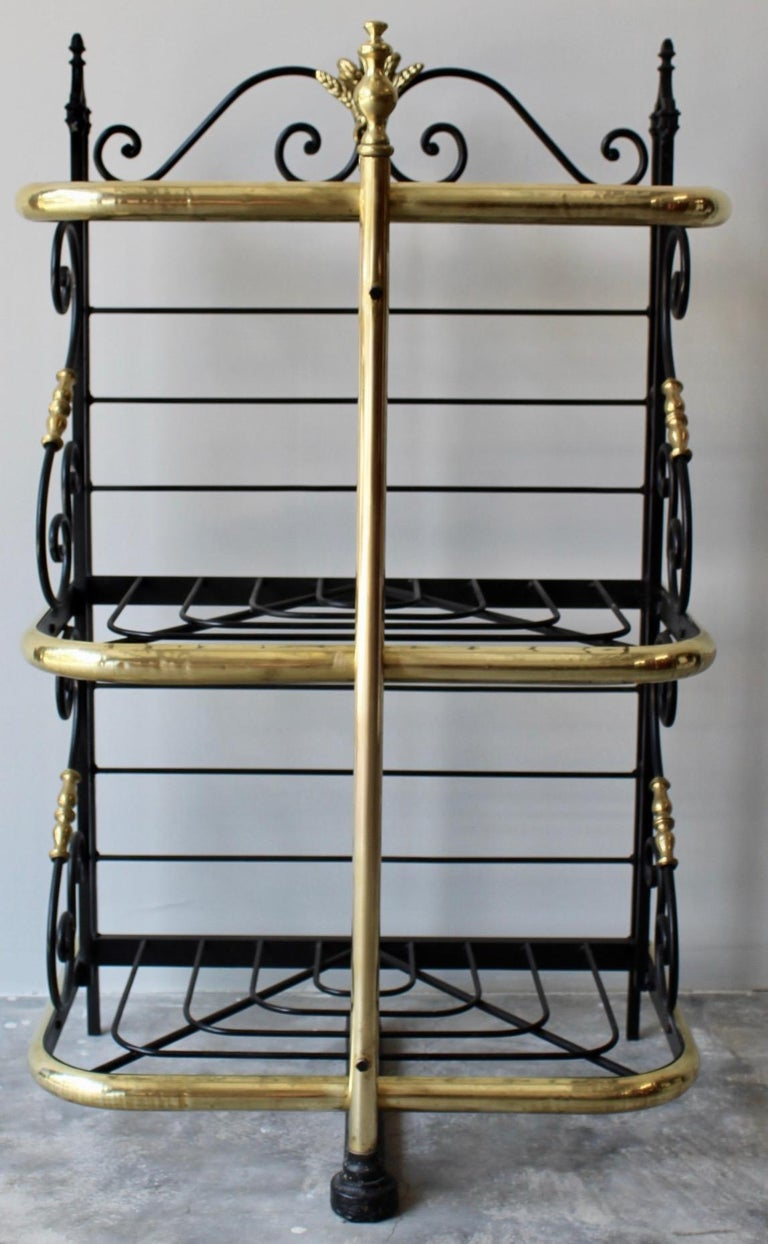 Cast 19th Century French Counter Top Bakers Rack For Sale