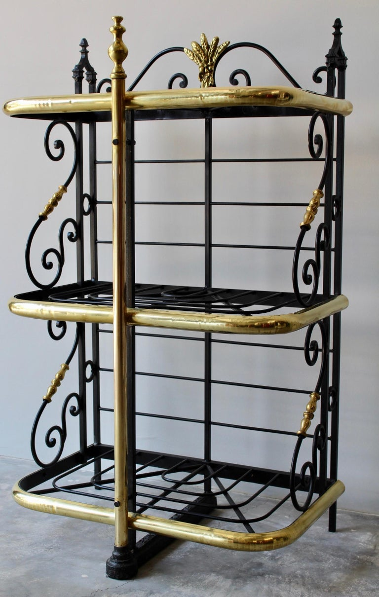 19th Century French Counter Top Bakers Rack In Excellent Condition For Sale In Charleston, SC