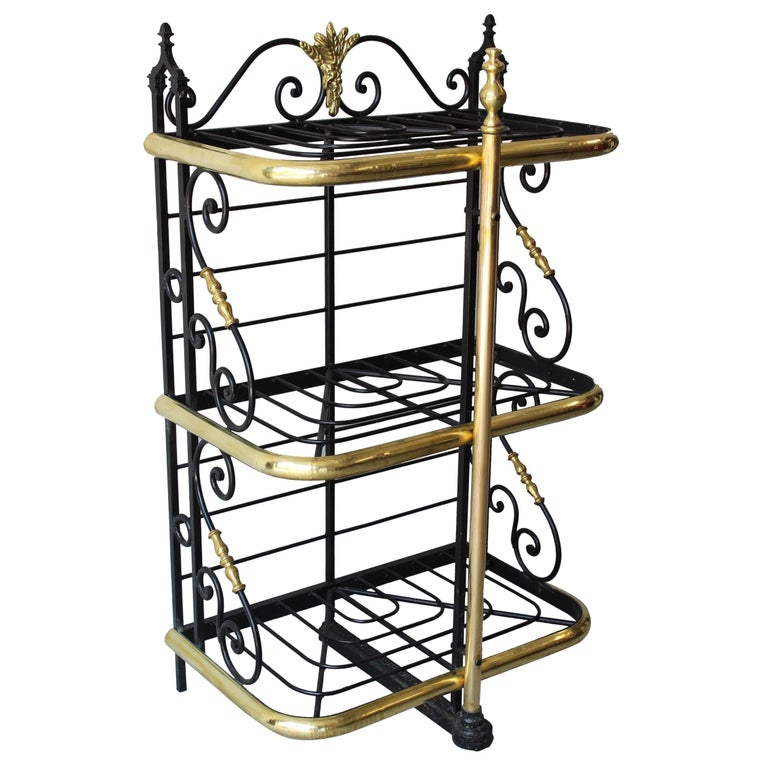 19th Century French Counter Top Bakers Rack For Sale