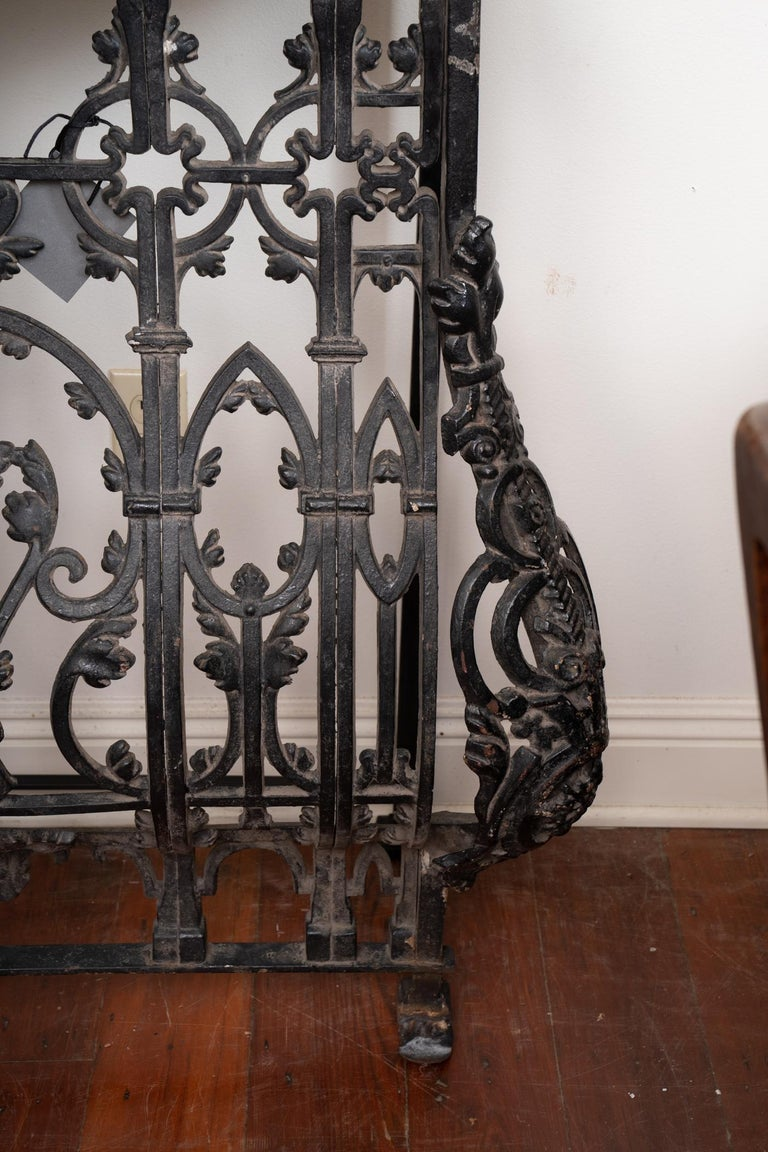 19th century iron balcony with later marble to make wonderful console table.