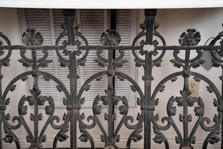 19th Century French Iron Console In Good Condition For Sale In New Orleans, LA