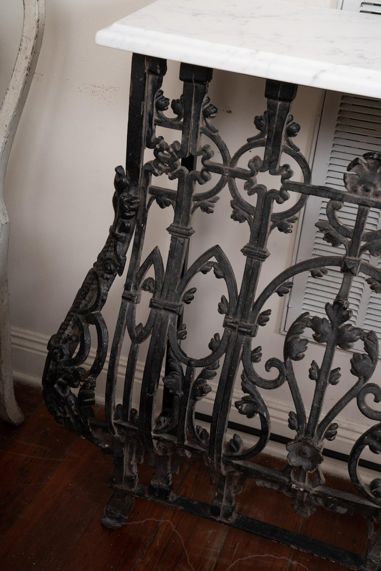 19th Century French Iron Console For Sale 1