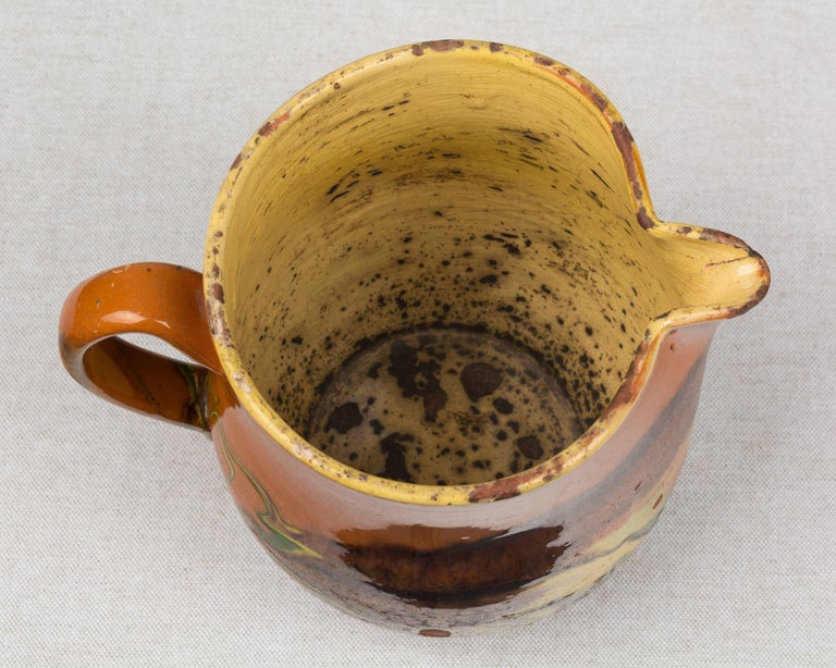 19th Century French Jaspe Pitcher For Sale 4