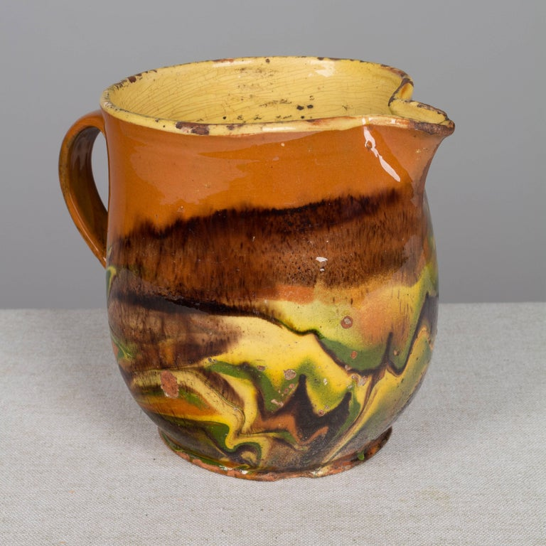 Country 19th Century French Jaspe Pitcher For Sale