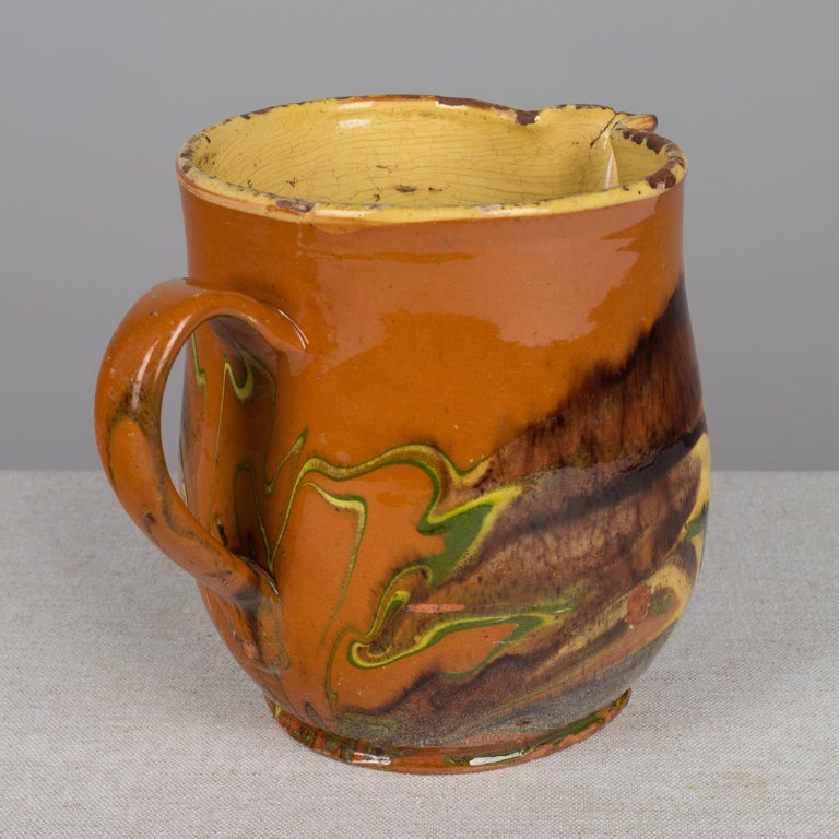 19th Century French Jaspe Pitcher For Sale 1