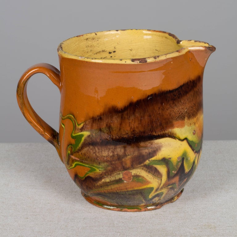 19th Century French Jaspe Pitcher For Sale 2