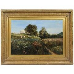 19th Century French Landscape Set in Gilt Frame