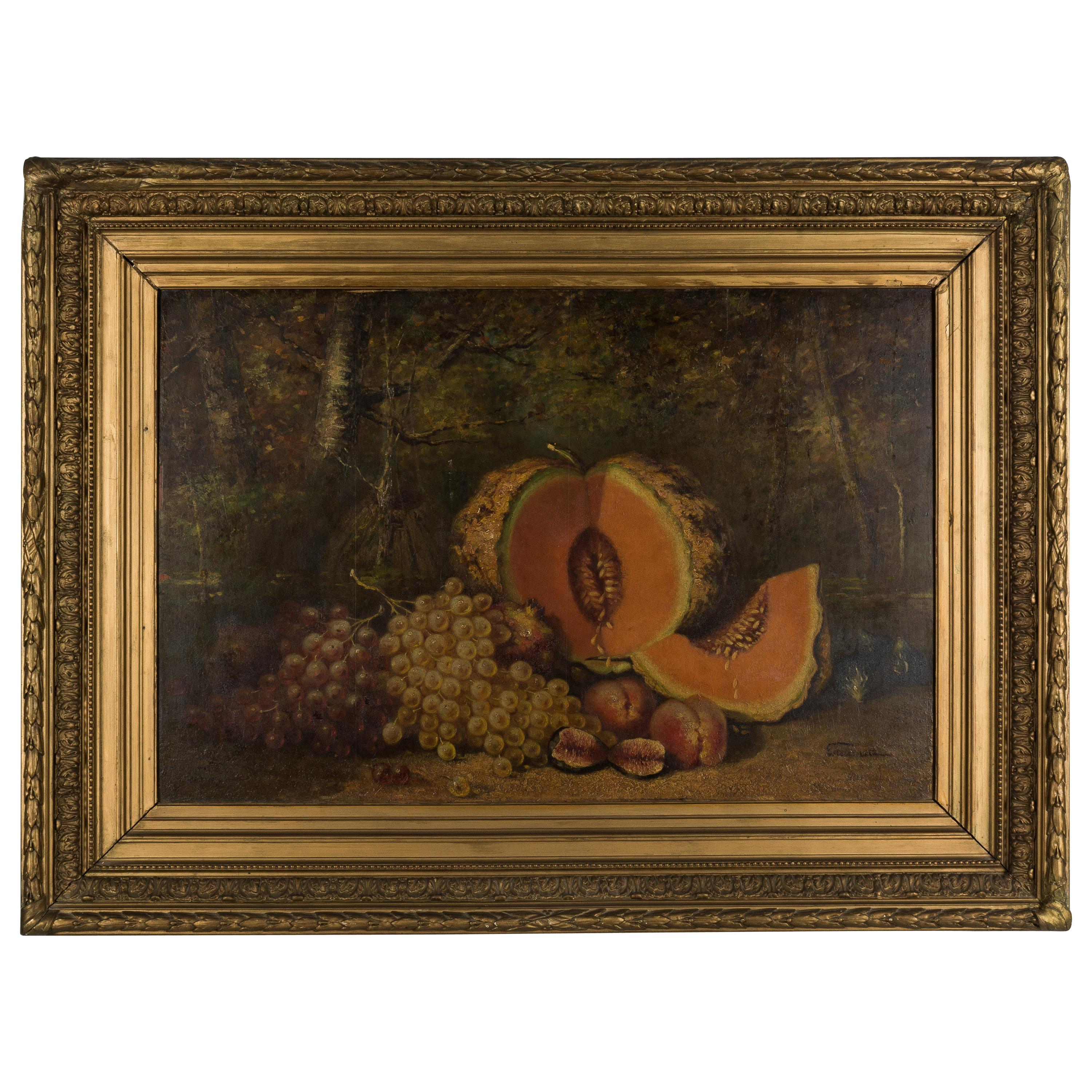 19th Century French Large Still Life Painting