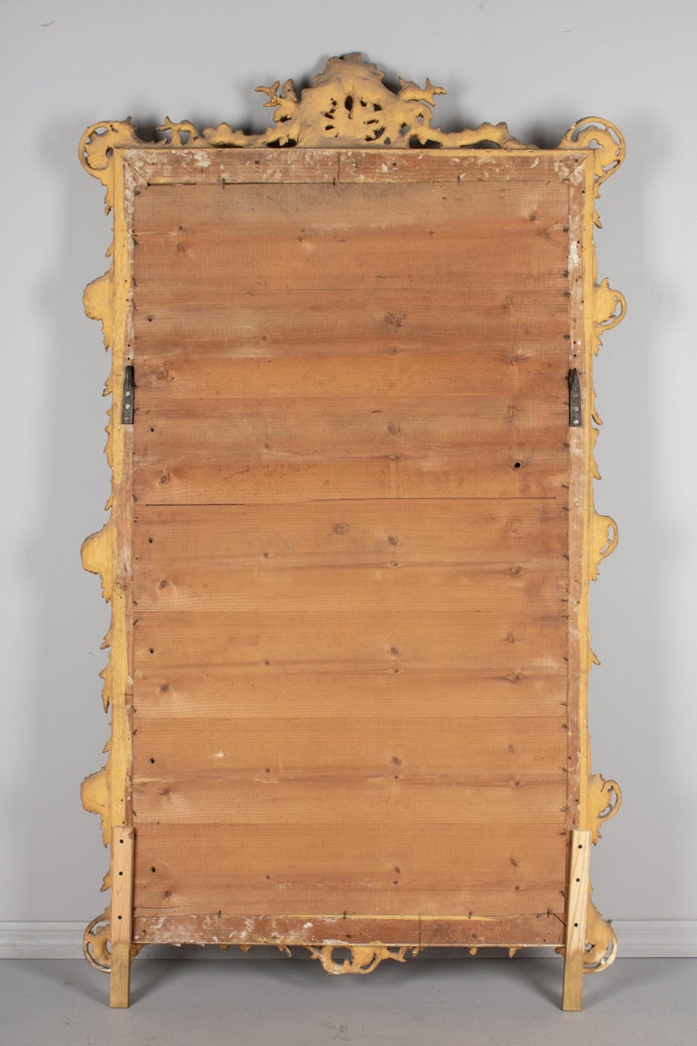 19th Century French Louis XV Style Gilded Mirror For Sale 6