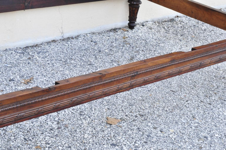 French Louis XVI Carved Walnut & Cane Daybed Sofa with Custom Mattress For Sale 5
