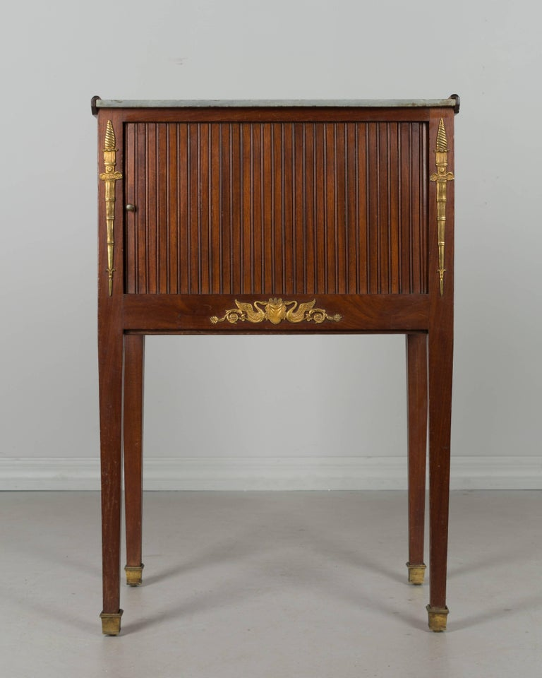 Bronze French Louis XVI Style Side Table For Sale