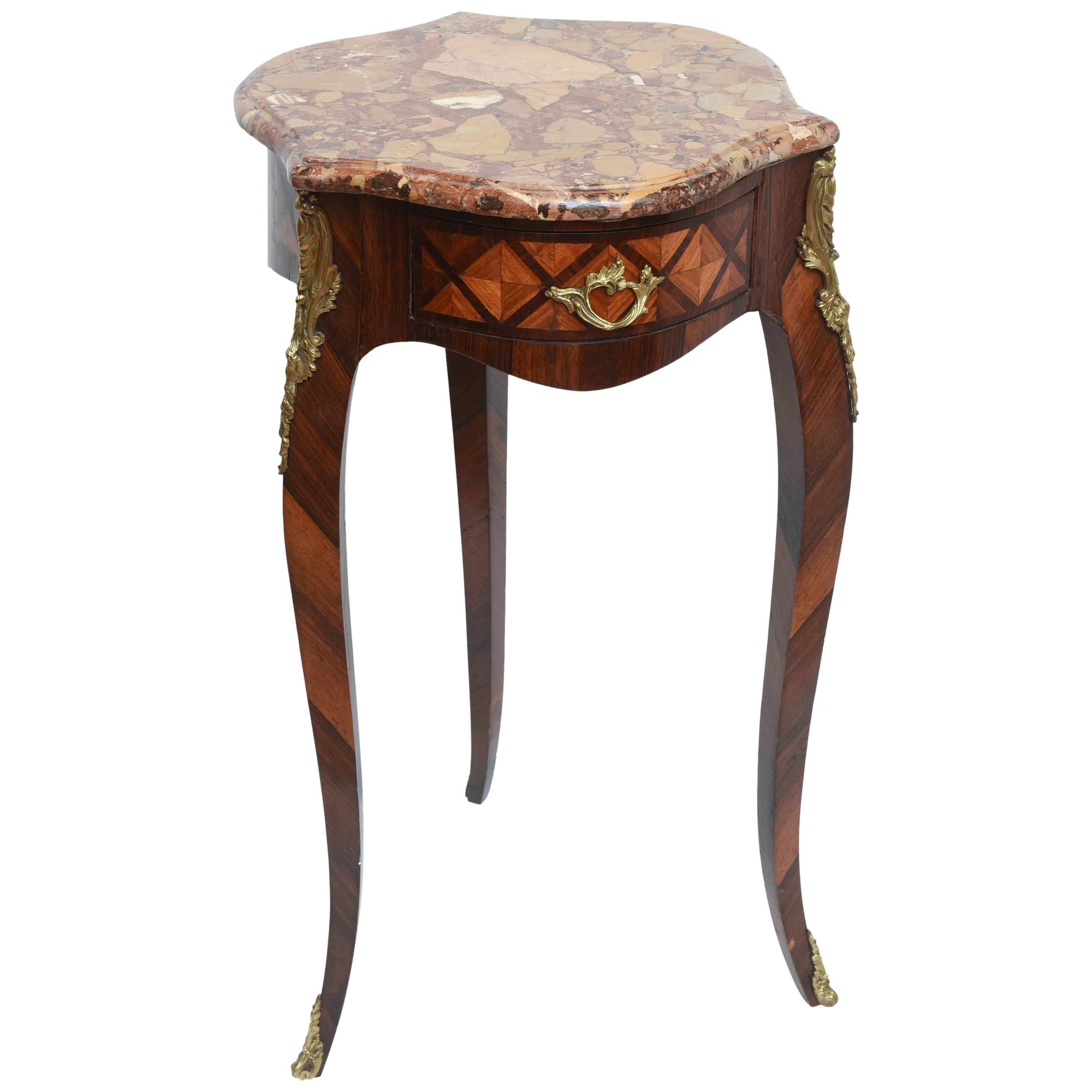 19th c. French Marble Top Gueridon