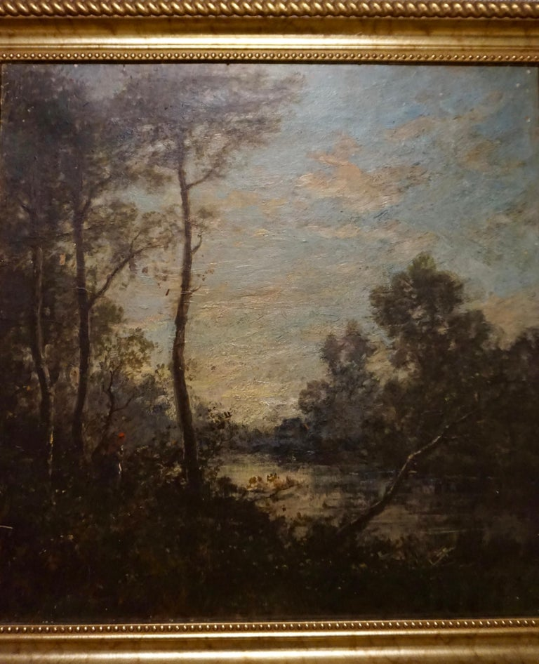 19th C. French Oil on Canvas Attributed to Jean-Baptise-Camille-Corot School In Good Condition For Sale In Vancouver, British Columbia
