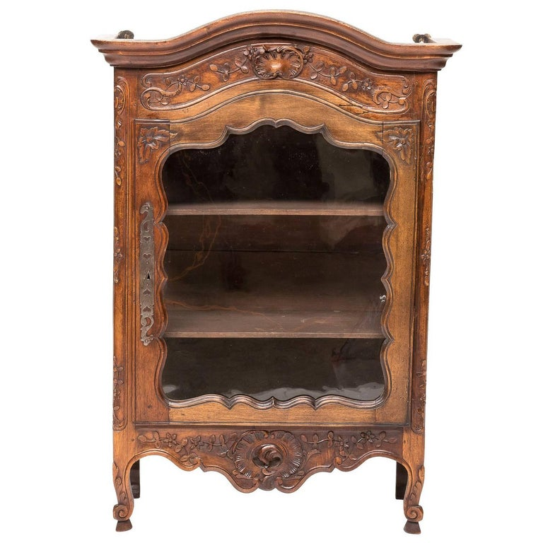 19th Century French Provincial Hanging Cabinet