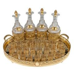 19th C French Silver Gilt Large Liqueur Service by Moison Odiot, Paris, c.1890