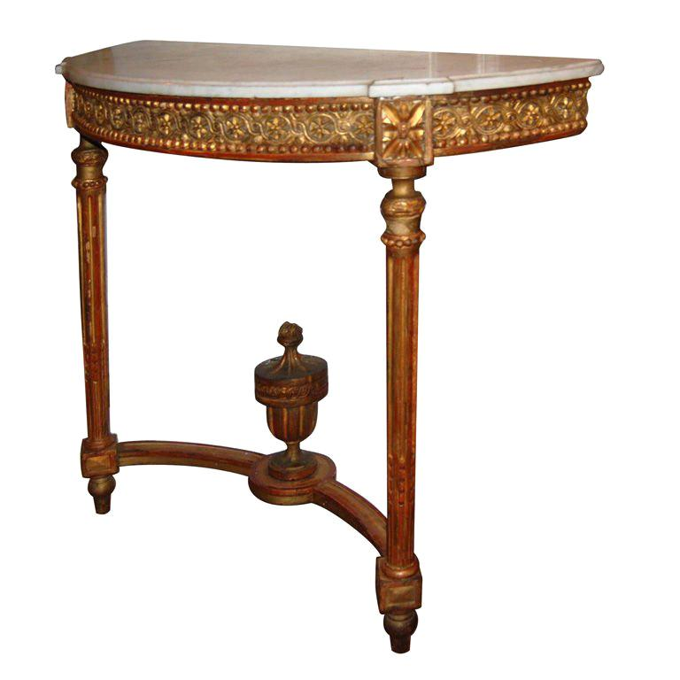 19th c. Giltwood Console