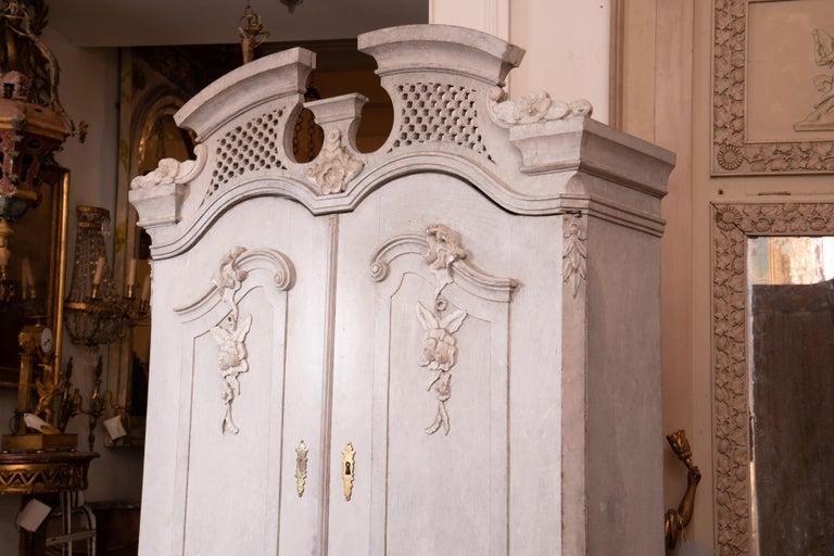 Swedish 19th Century Gustavian Painted Secretary For Sale