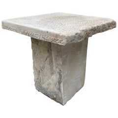 19th Century Hand Carved Antique Stone Garden Coffee Outdoor Indoor Table Farm