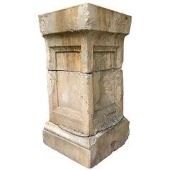 Hand Carved Stone Pedestal Column Post Base Block Antiques Los Angeles CA