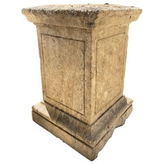 Hand Carved Stone Pedestal Column Post Base Block Antiques Los Angeles