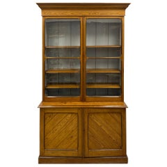 19th-C. Hard Pine Farmhouse Modern Tall Cabinet