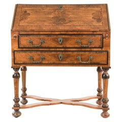 19th Century Inlaid Mahogany William and Mary Secretary on Stand