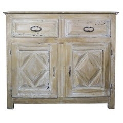 19th Century Spanish Carved Bleached Walnut Cabinet