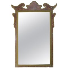 19th Century Italian Faux Marble Painted Mirror