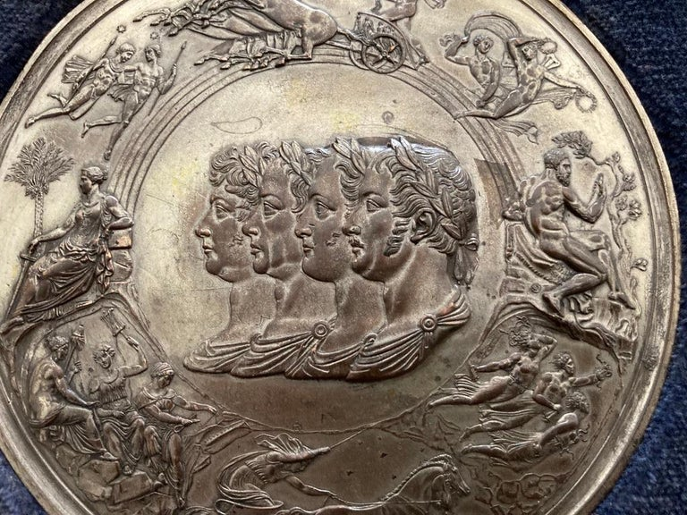Italian Grand Tour Medals of Roman Emperors and the Roman Colosseum For Sale 1