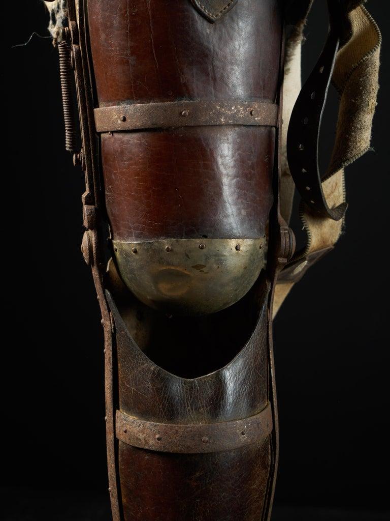 19th Century, Italian Original Wooden Prosthetic Leg For Sale 5