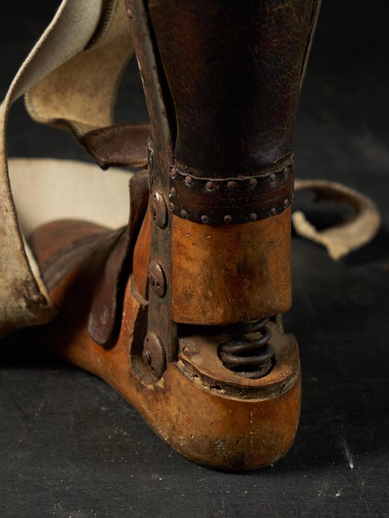 19th Century, Italian Original Wooden Prosthetic Leg For Sale 6