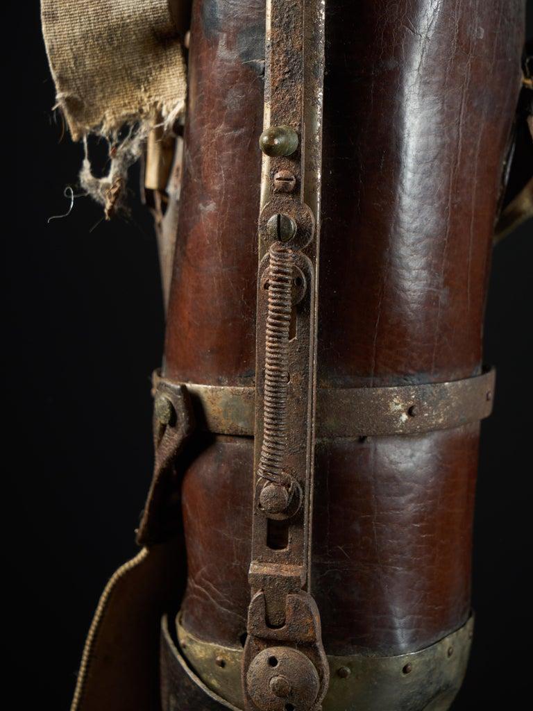 19th Century, Italian Original Wooden Prosthetic Leg For Sale 8