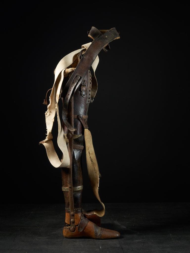 20th Century 19th Century, Italian Original Wooden Prosthetic Leg For Sale