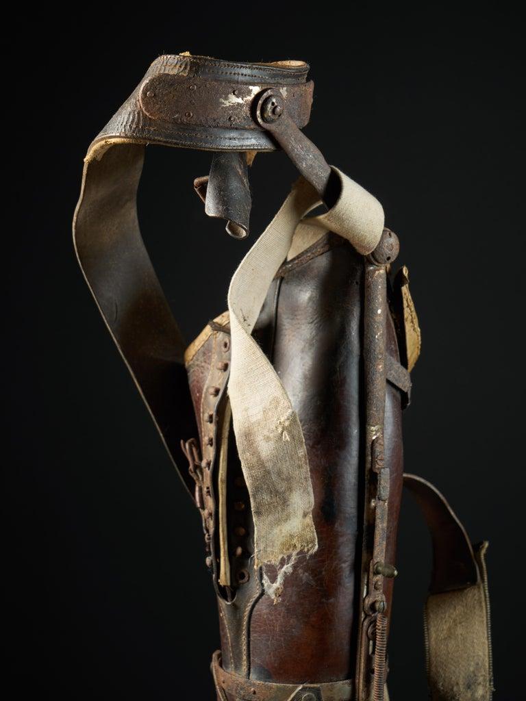 19th Century, Italian Original Wooden Prosthetic Leg For Sale 1