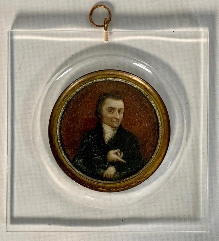 Empire 19th Century Italian Portrait Miniature For Sale