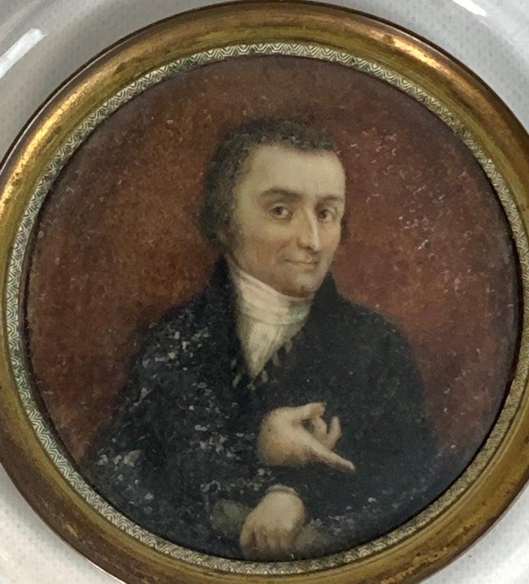 19th Century Italian Portrait Miniature In Good Condition For Sale In Kilmarnock, VA