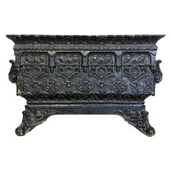 19th Century Large French Cast Iron Jardinière Planter