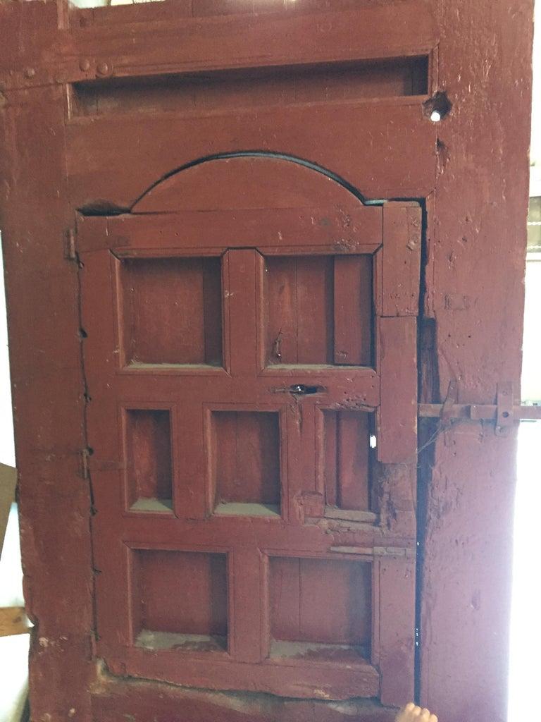 19th Century Large Moroccan Ryad Studded Moorish Antique Door For Sale 8