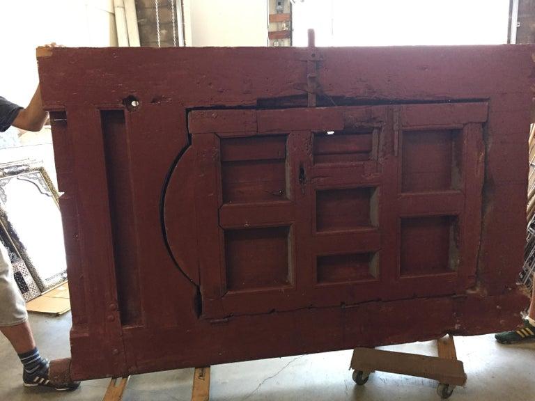 19th Century Large Moroccan Ryad Studded Moorish Antique Door For Sale 9