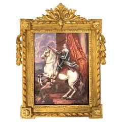 19th C Limoges Enamel of Thomas Francis, Prince of Carignano after van Dyck