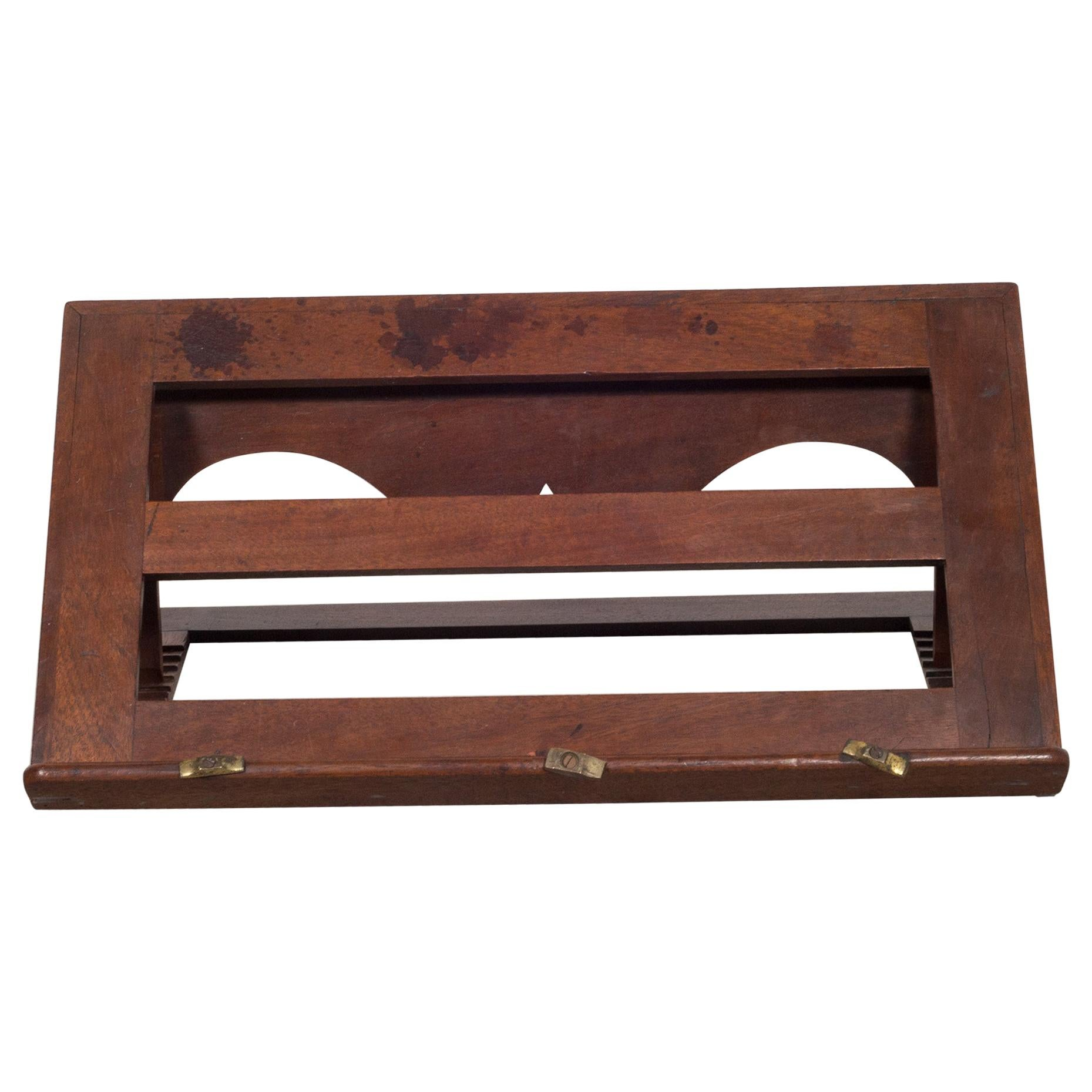 19th c. Mahogany and Brass Book Stand, c.1800s