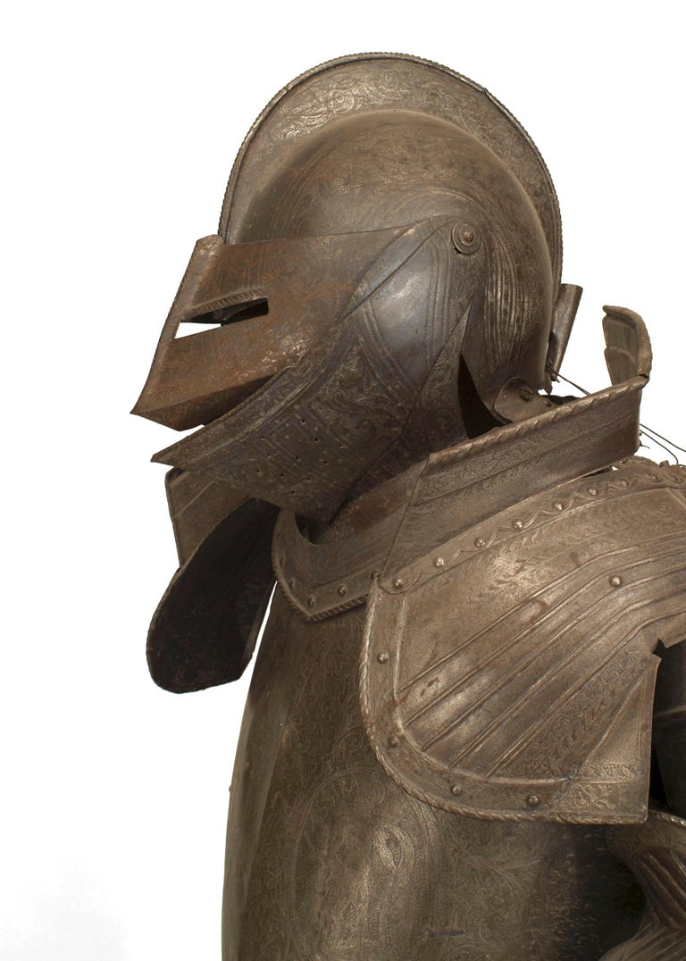 19th c. Medieval Style Suit Of Armor For Sale 4