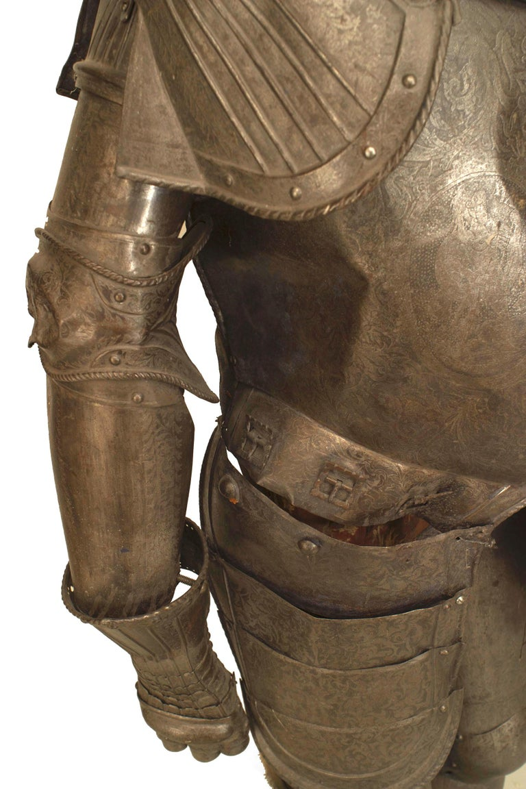 19th c. Medieval Style Suit Of Armor For Sale 5