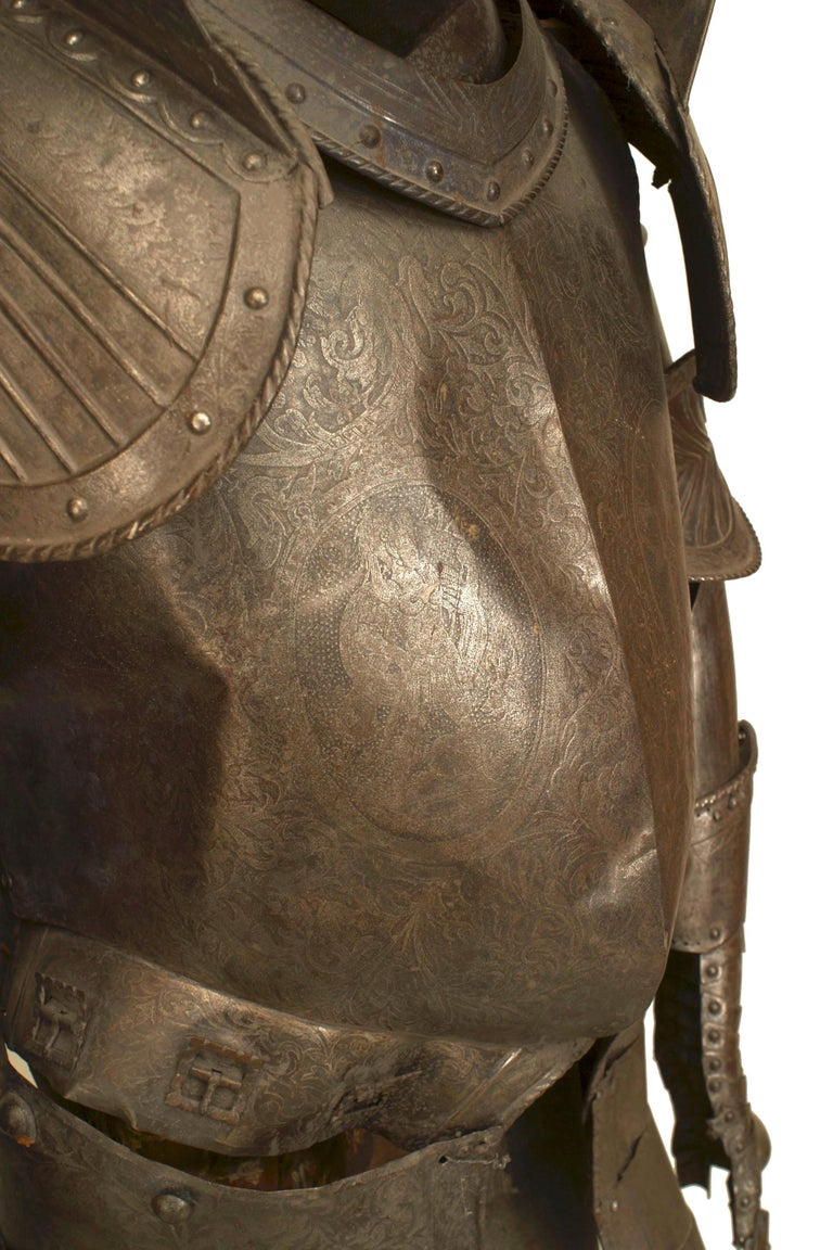 19th c. Medieval Style Suit Of Armor For Sale 6