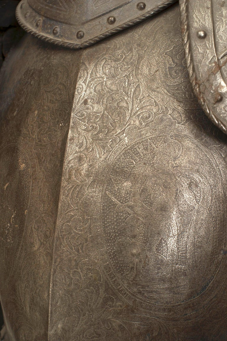 19th c. Medieval Style Suit Of Armor For Sale 7