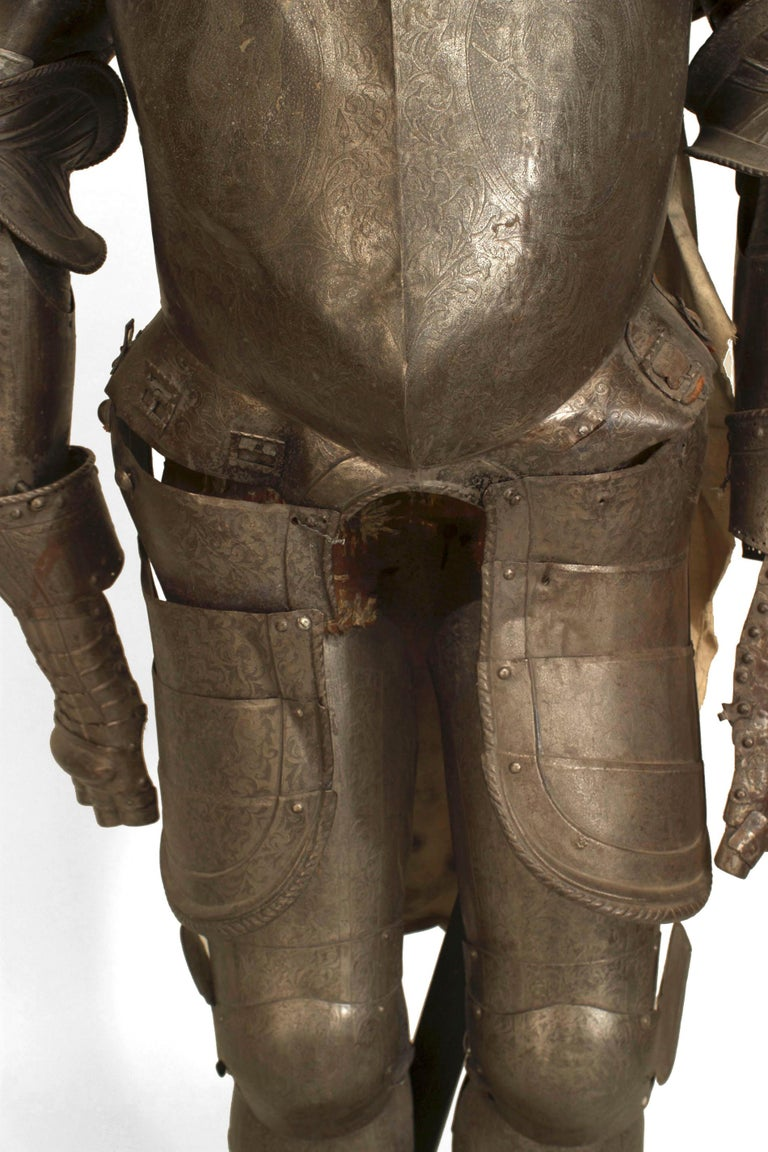 19th c. Medieval Style Suit Of Armor For Sale 8